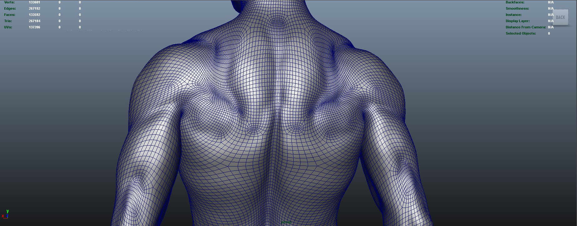 nude male character 3d model ma mb obj 155378