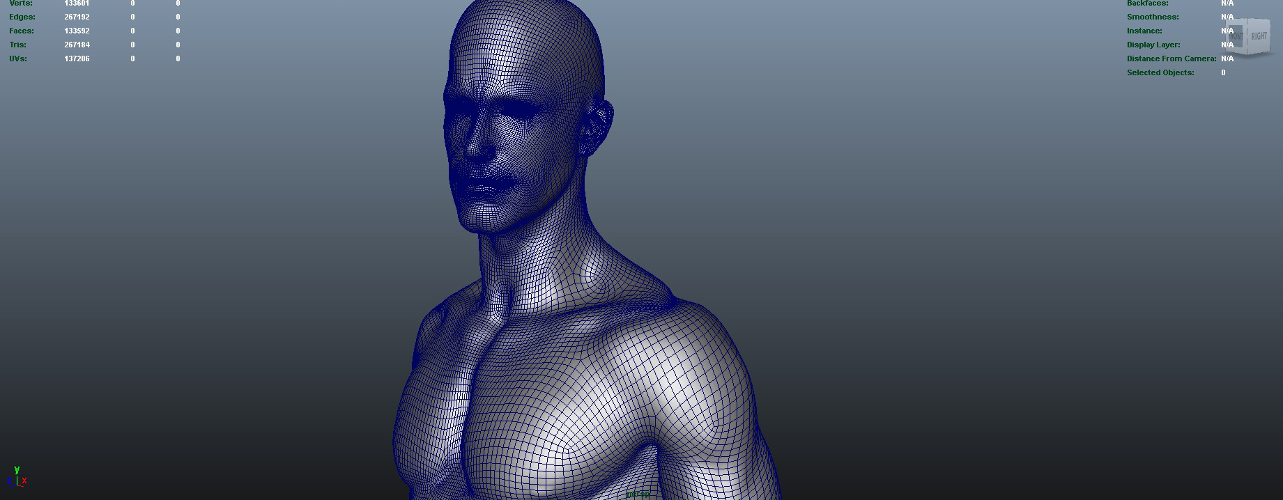 nude male character 3d model ma mb obj 155379