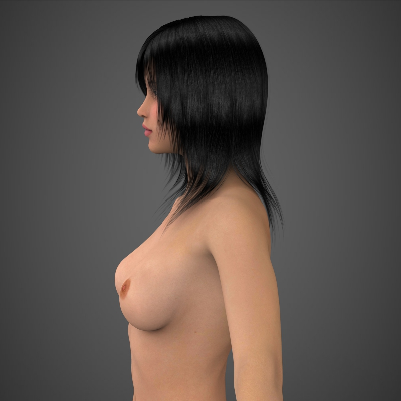 realistic beautiful girl 3d model 3ds max fbx c4d lwo ma mb texture obj 161303