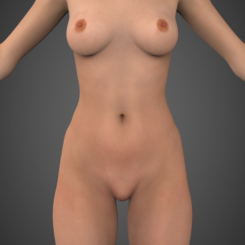 realistic beautiful girl 3d model 3ds max fbx c4d lwo ma mb texture obj 161304