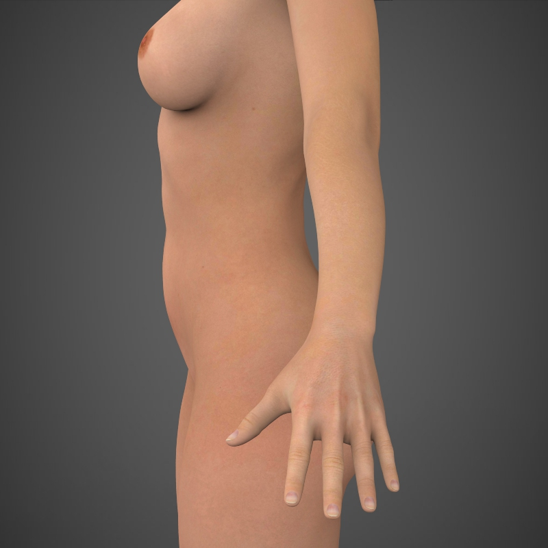 realistic beautiful girl 3d model 3ds max fbx c4d lwo ma mb texture obj 161305