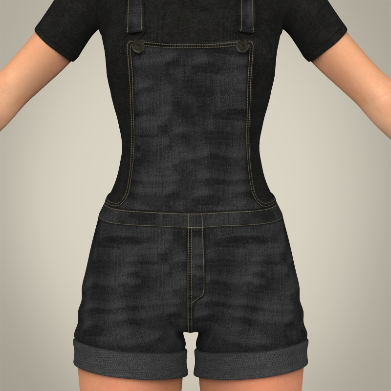 realistic beautiful teen girl 3d model 3ds max fbx c4d lwo ma mb texture obj 164631