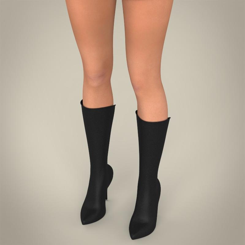 realistic beautiful teen girl 3d model 3ds max fbx c4d lwo ma mb texture obj 164635