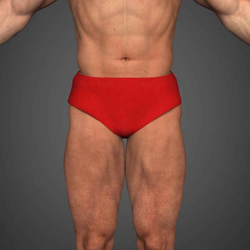 realistic bodybuilder man 3d model 3ds max fbx c4d l3d ma mb texture obj 161341