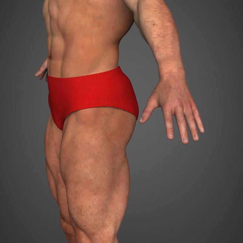 realistic bodybuilder man 3d model 3ds max fbx c4d l3d ma mb texture obj 161342