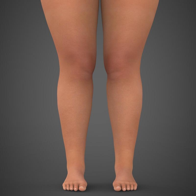 realistic fat woman 3d model 3ds max fbx c4d lwo ma mb texture obj 161400