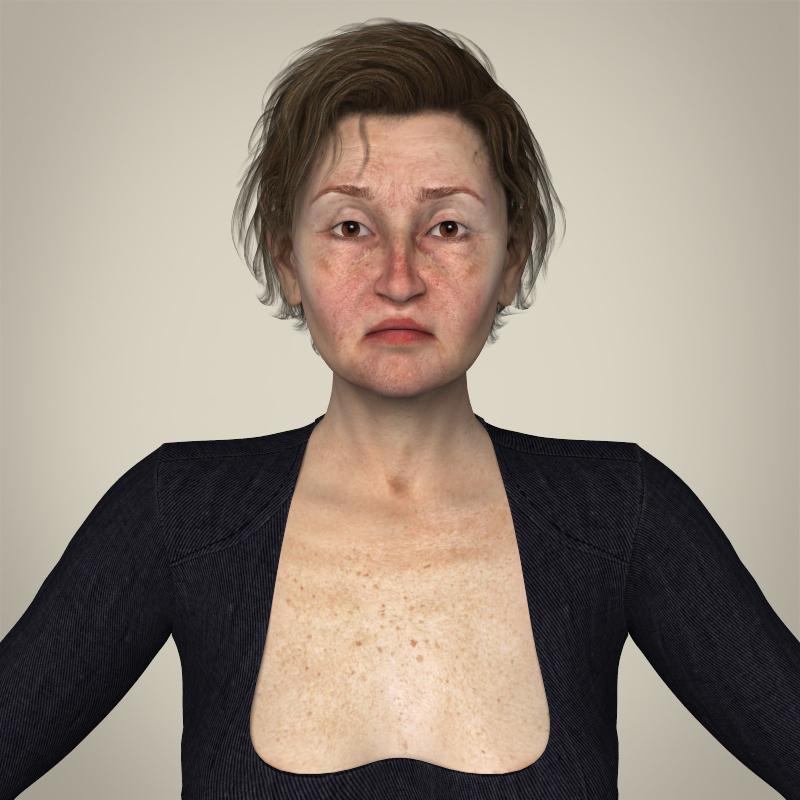 бодитой хөгшин настай эмэгтэй 3d загвар 3ds max fbx c4d ма бб бүтэцтэй obj 165352