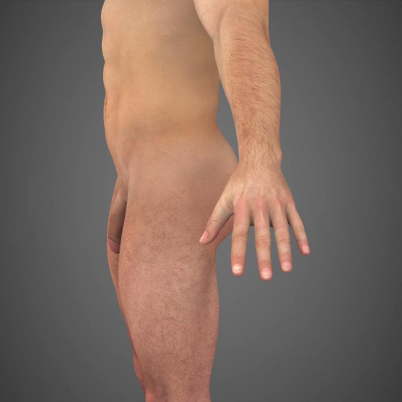 realistic young muscular man – #2 3d model 3ds max fbx c4d lwo ma mb texture obj 161469