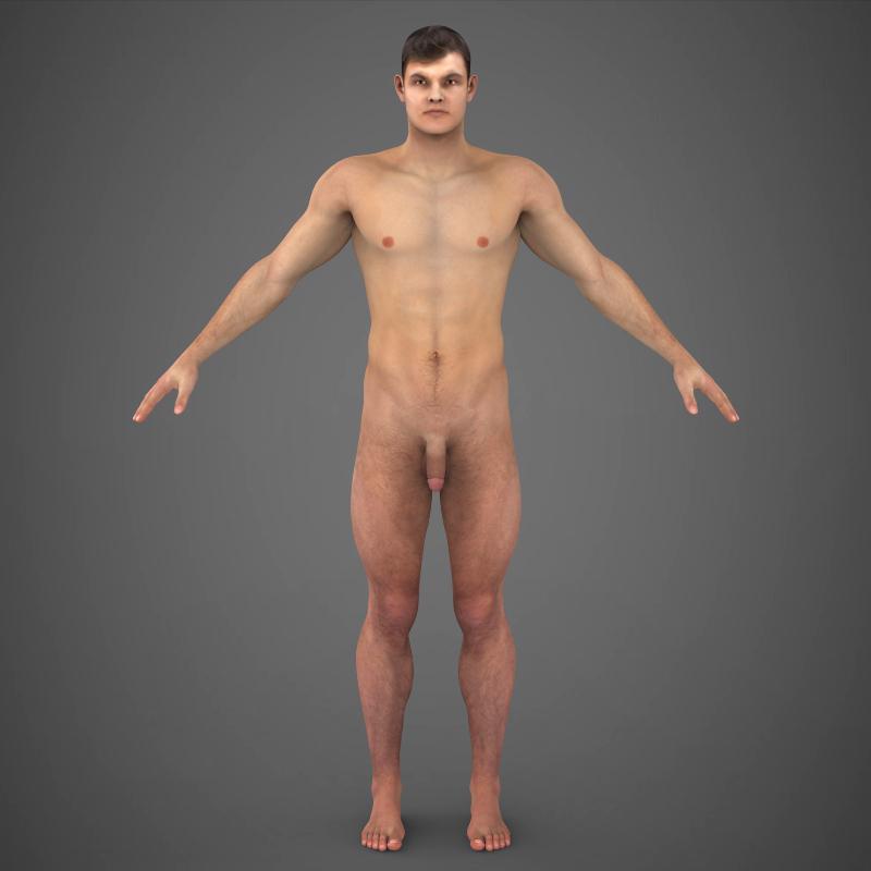 realistic young muscular man – #2 3d model 3ds max fbx c4d lwo ma mb texture obj 161472