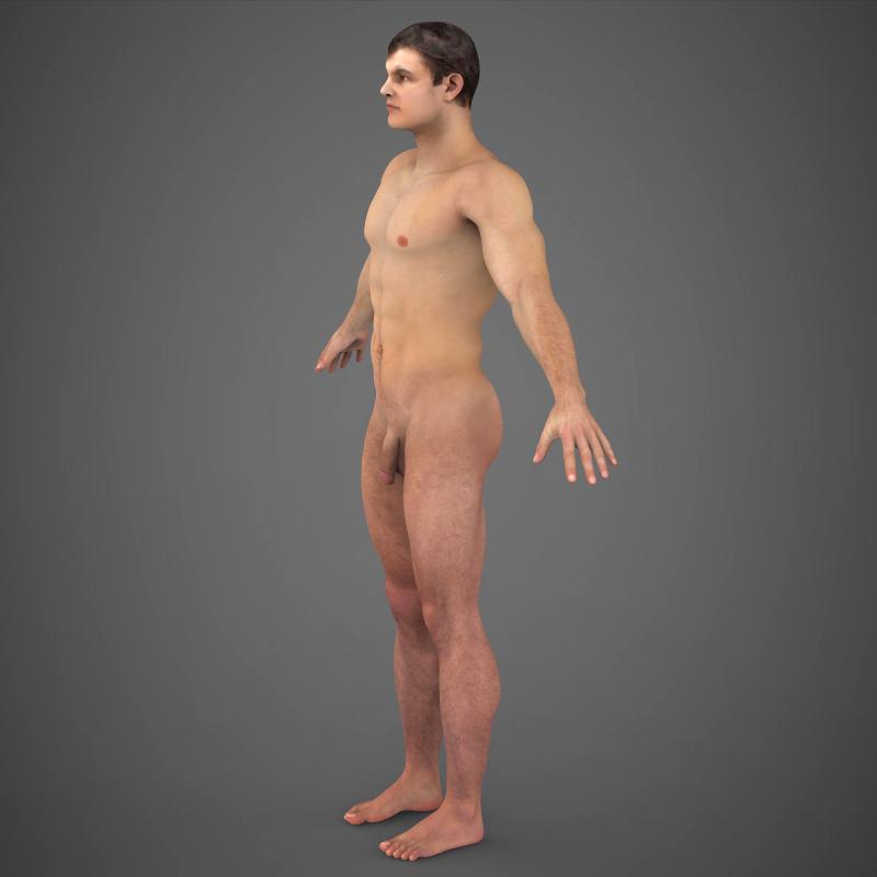 realistic young muscular man – #2 3d model 3ds max fbx c4d lwo ma mb texture obj 161473