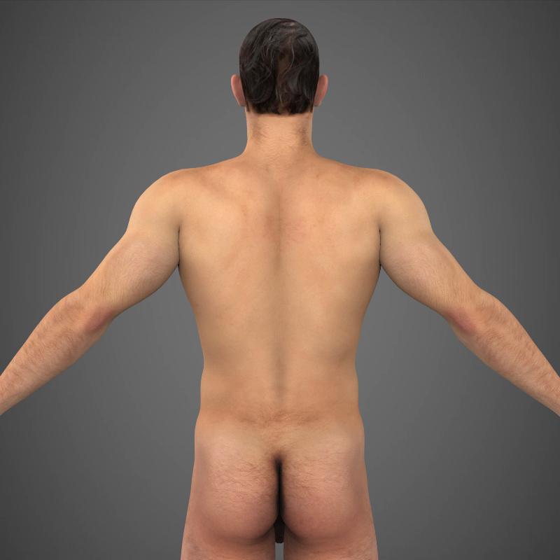 realistic young muscular man – #2 3d model 3ds max fbx c4d lwo ma mb texture obj 161474