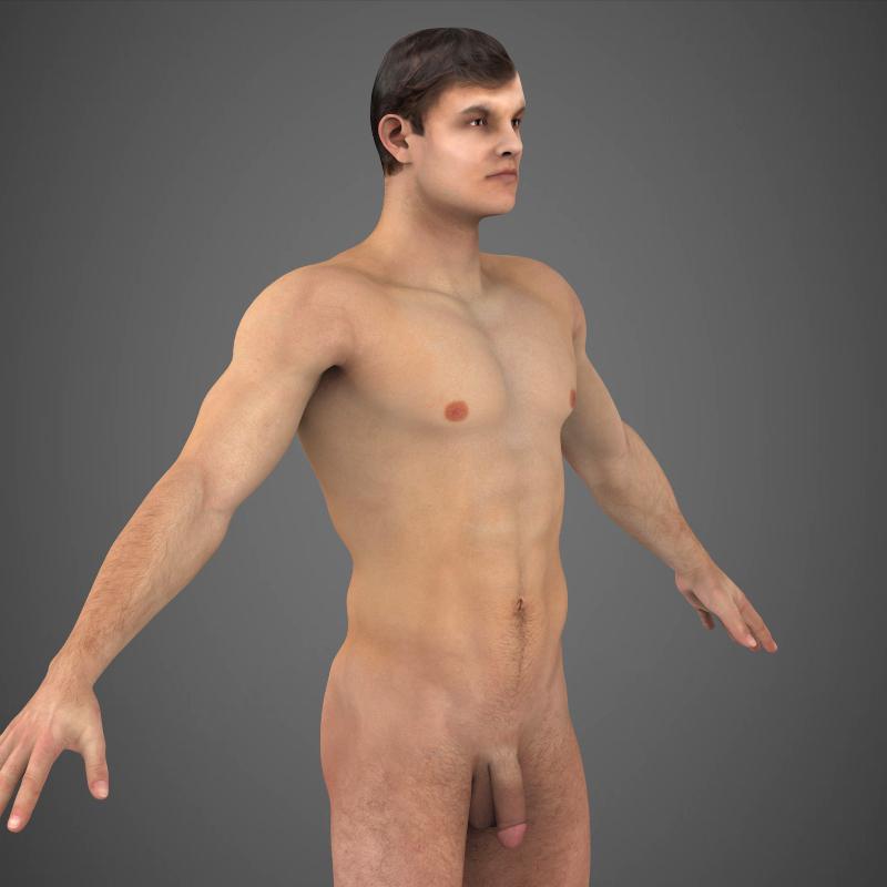 realistic young muscular man – #2 3d model 3ds max fbx c4d lwo ma mb texture obj 161477