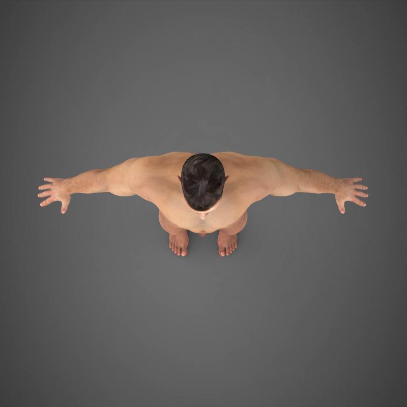 realistic young muscular man – #2 3d model 3ds max fbx c4d lwo ma mb texture obj 161479