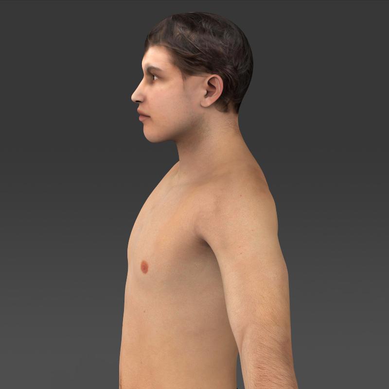 realistic young muscular man 3d model 3ds max fbx c4d lwo ma mb texture obj 161435