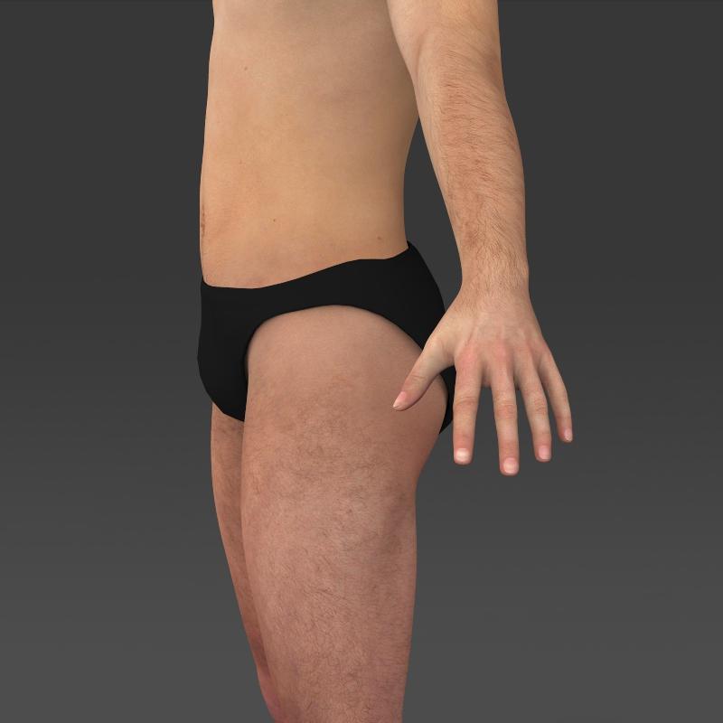 realistic young muscular man 3d model 3ds max fbx c4d lwo ma mb texture obj 161437