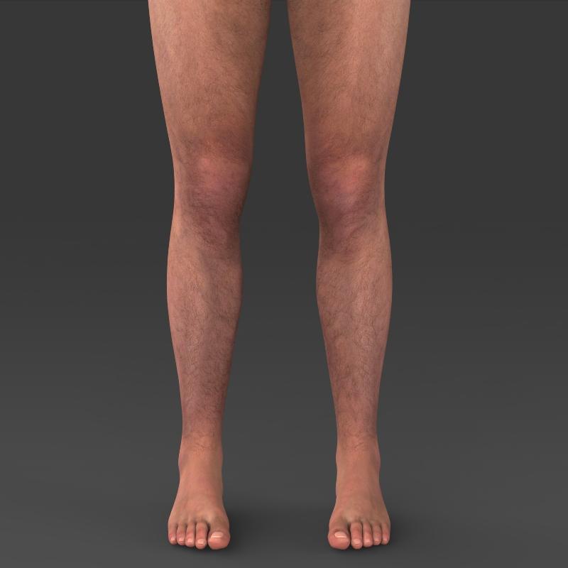 realistic young muscular man 3d model 3ds max fbx c4d lwo ma mb texture obj 161438