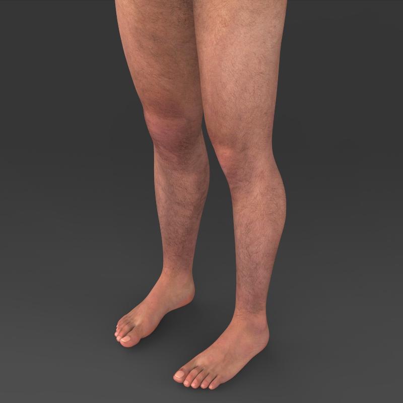 realistic young muscular man 3d model 3ds max fbx c4d lwo ma mb texture obj 161439