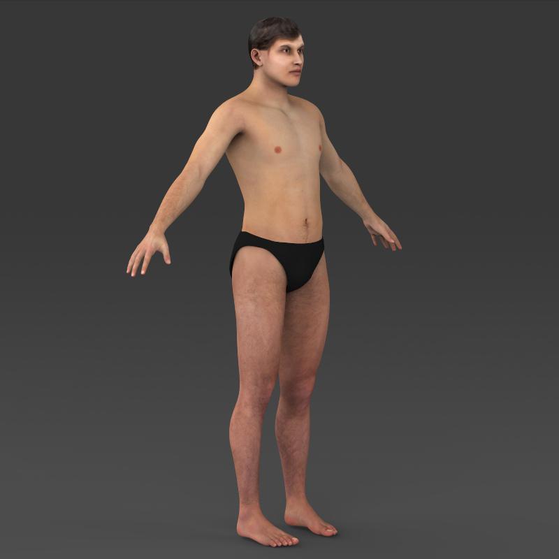 realistic young muscular man 3d model 3ds max fbx c4d lwo ma mb texture obj 161445