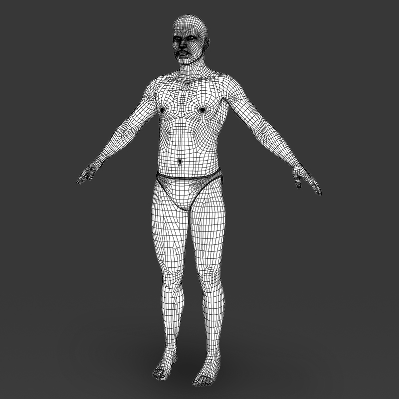 realistic young muscular man 3d model 3ds max fbx c4d lwo ma mb texture obj 161447