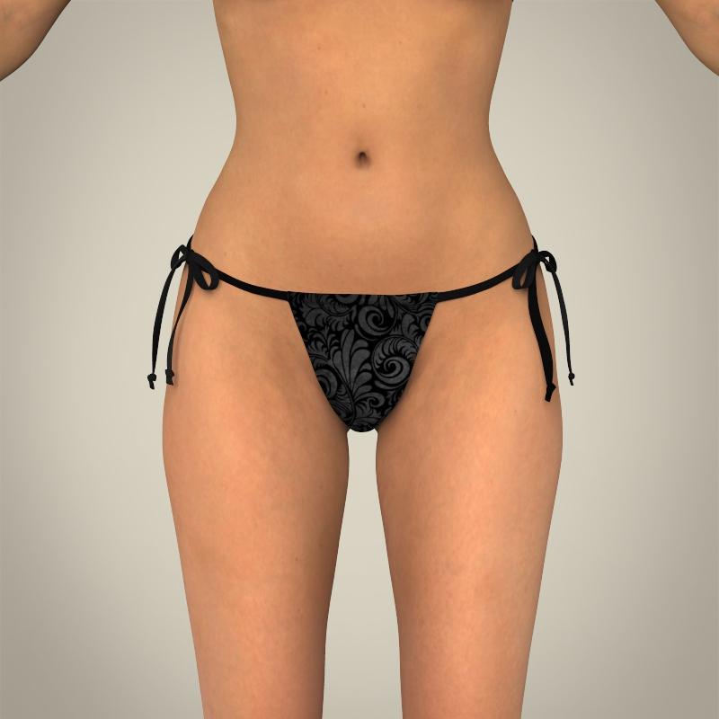 realistic young sexy female 3d model 3ds max fbx c4d lwo ma mb texture obj 161505