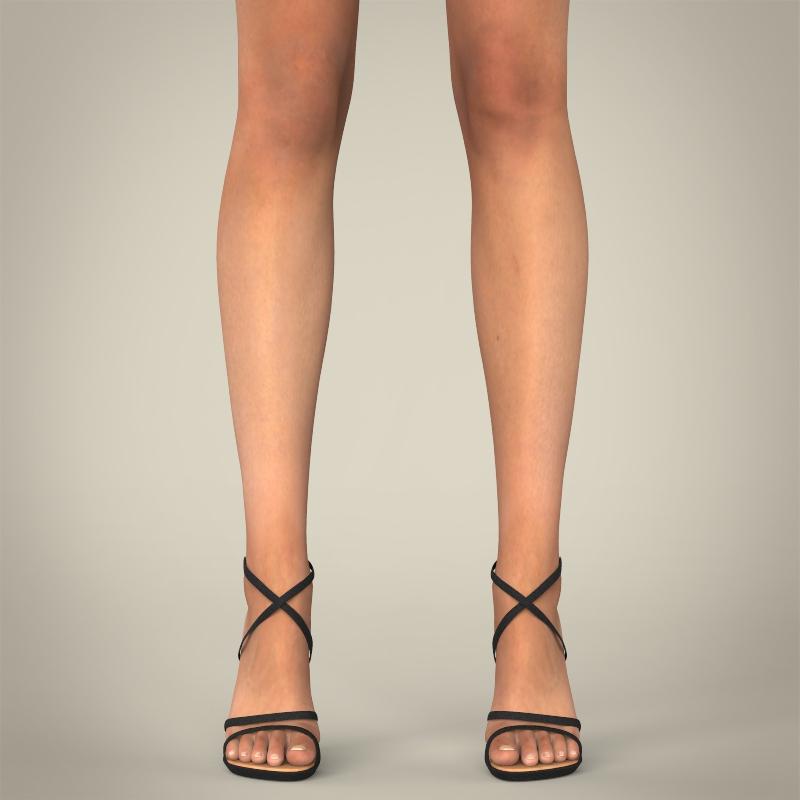realistic young sexy female 3d model 3ds max fbx c4d lwo ma mb texture obj 161507