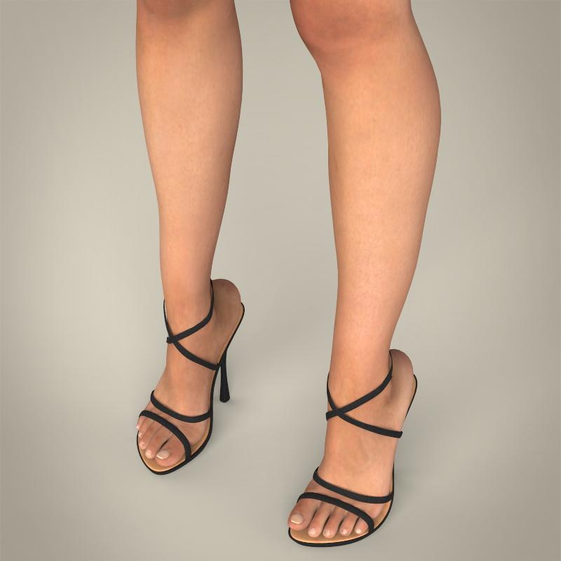 realistic young sexy female 3d model 3ds max fbx c4d lwo ma mb texture obj 161508