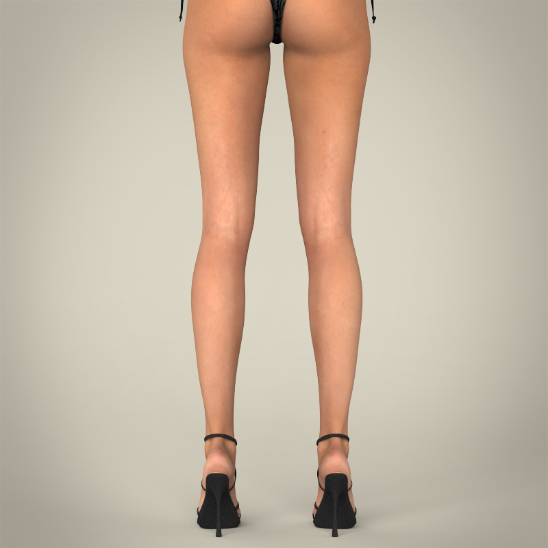 realistic young sexy female 3d model 3ds max fbx c4d lwo ma mb texture obj 161511