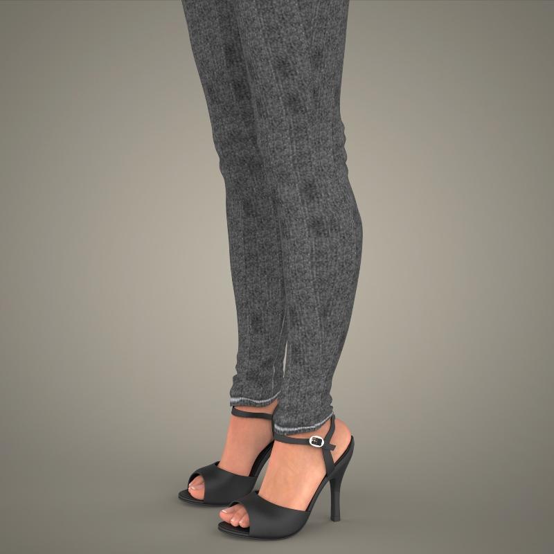 realistic young sexy girl 3d model 3ds max fbx c4d lwo ma mb texture obj 161527