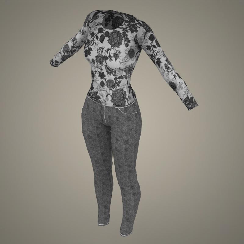 realistic young sexy girl 3d model 3ds max fbx c4d lwo ma mb texture obj 161536