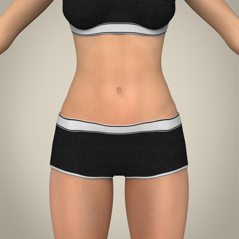realistic young teen girl 3d model 3ds max fbx c4d lwo ma mb texture obj 161745