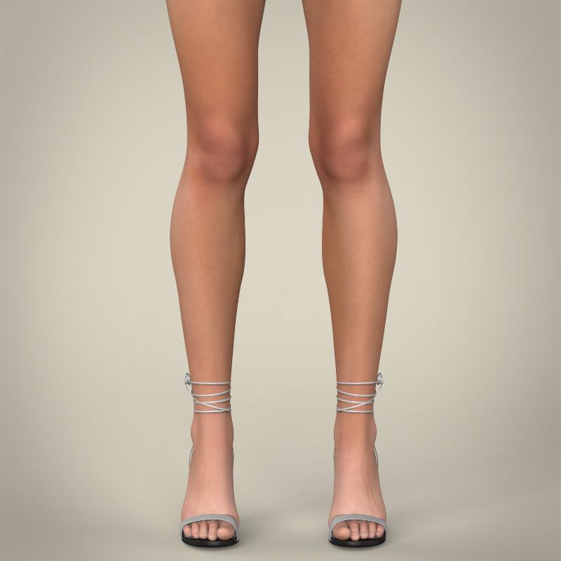 realistic young teen girl 3d model 3ds max fbx c4d lwo ma mb texture obj 161747