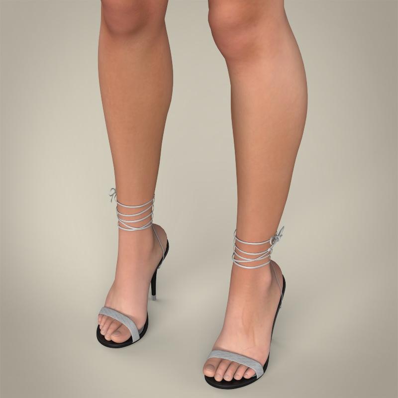 realistic young teen girl 3d model 3ds max fbx c4d lwo ma mb texture obj 161749