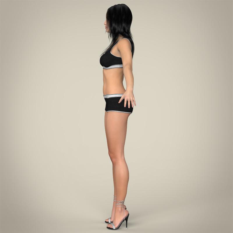 realistic young teen girl 3d model 3ds max fbx c4d lwo ma mb texture obj 161750