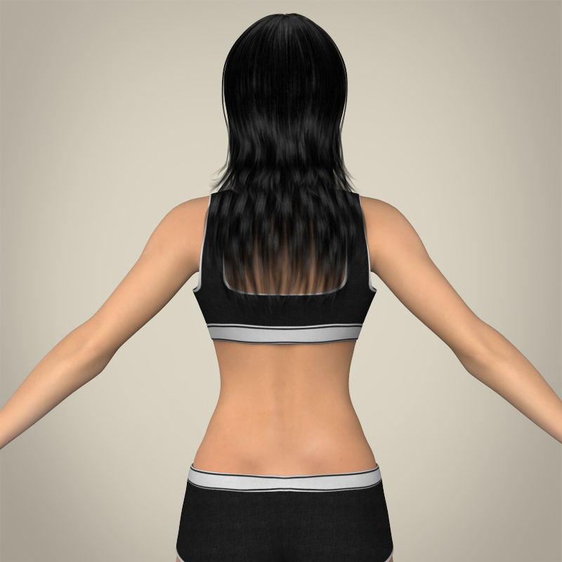 realistic young teen girl 3d model 3ds max fbx c4d lwo ma mb texture obj 161751