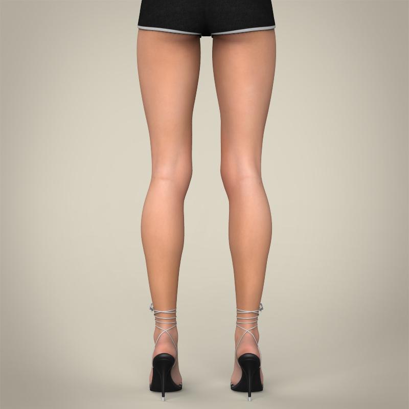realistic young teen girl 3d model 3ds max fbx c4d lwo ma mb texture obj 161752