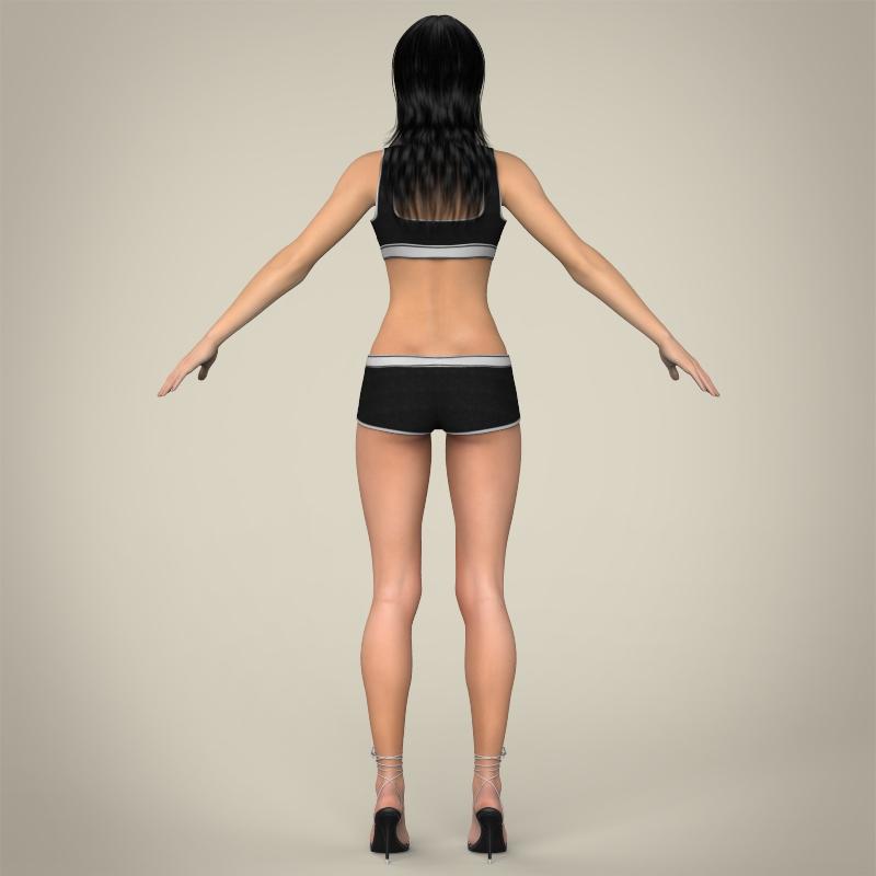 realistic young teen girl 3d model 3ds max fbx c4d lwo ma mb texture obj 161753