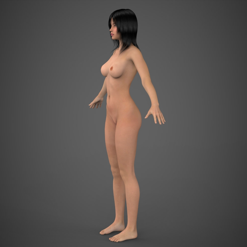 Realistic Beautiful Girl 3D Model – Buy Realistic ...