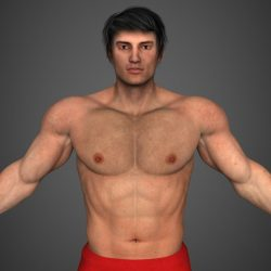 Realistic Bodybuilder Man ( 190.18KB jpg by cghuman )