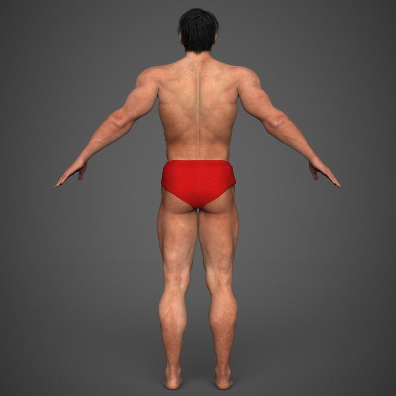 Realistic Bodybuilder Man ( 133.16KB jpg by cghuman )