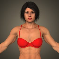 Realistic Bodybuilder Woman ( 298.43KB jpg by cghuman )