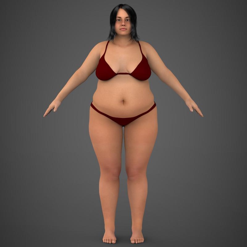 Realistic Fat Woman ( 130.35KB jpg by cghuman )