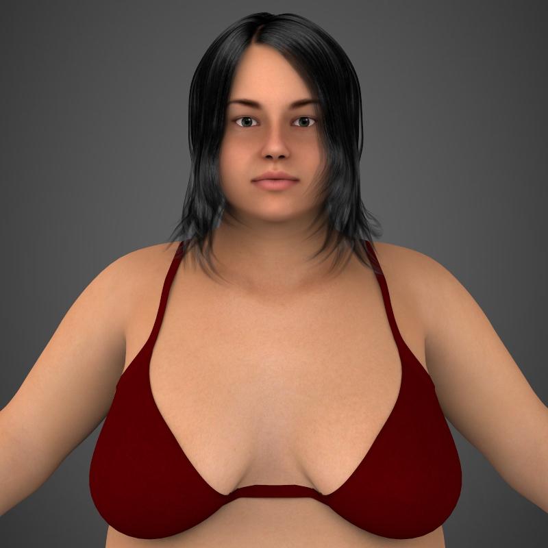Realistic Fat Woman ( 209.81KB jpg by cghuman )