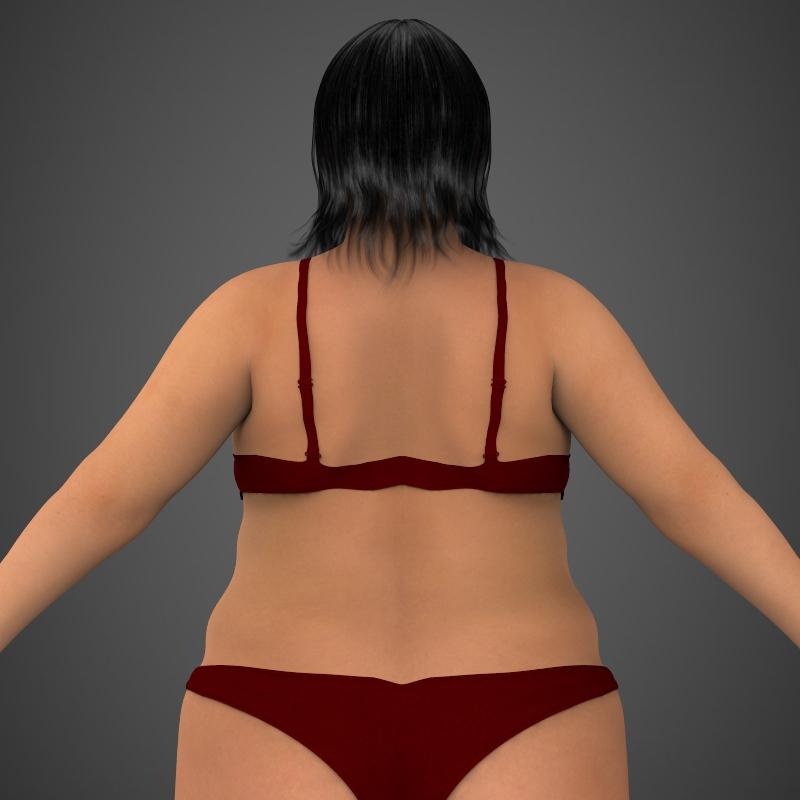 Realistic Fat Woman ( 181.71KB jpg by cghuman )