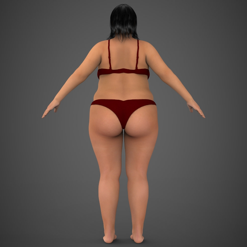 Realistic Fat Woman ( 128.25KB jpg by cghuman )