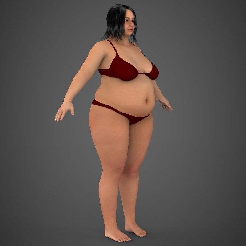 Realistic Fat Woman ( 125.21KB jpg by cghuman )