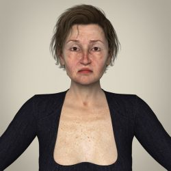 Realistic Old Age Woman ( 343.16KB jpg by cghuman )
