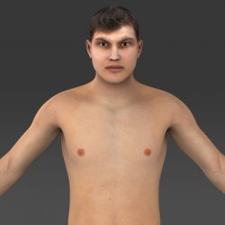 Realistic Young Muscular Man ( 683.59KB jpg by cghuman )