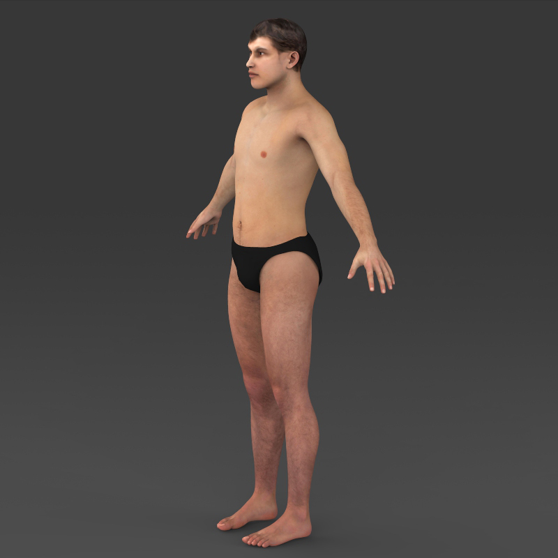 Realistic Young Muscular Man ( 162.16KB jpg by cghuman )