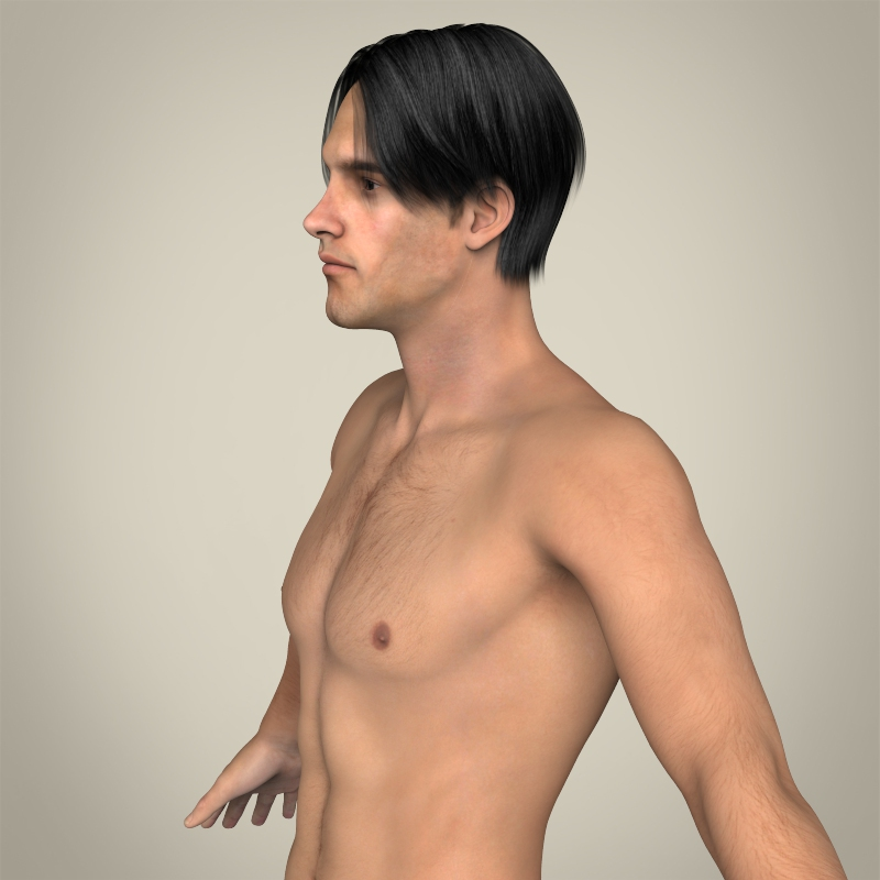 Realistic Young Muscular Male ( 186.67KB jpg by cghuman )