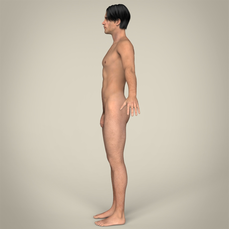 Realistic Young Muscular Male ( 114.6KB jpg by cghuman )
